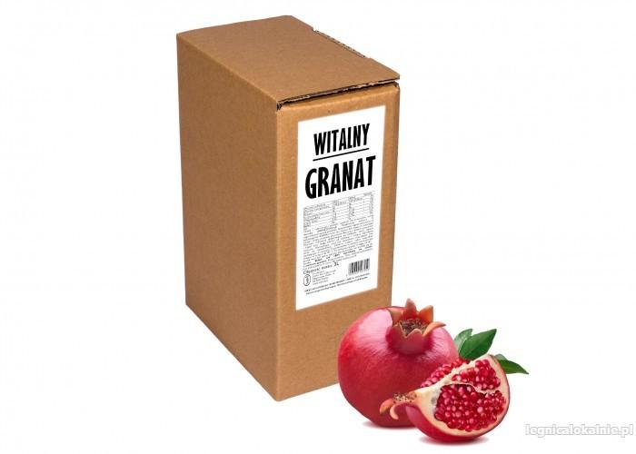 GRANAT 100% sok z granatu naturalny tłoczony na zimno dla zdrowia NFC bez cukru